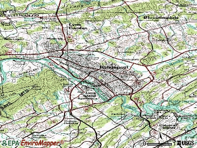 Kingsport topographic map