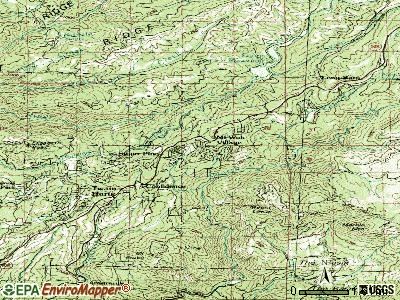 Mi-Wuk Village topographic map