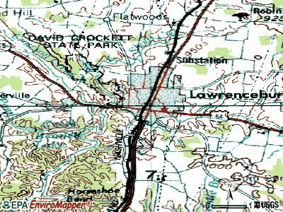 La Vergne topographic map