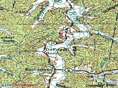 Lobelville topographic map