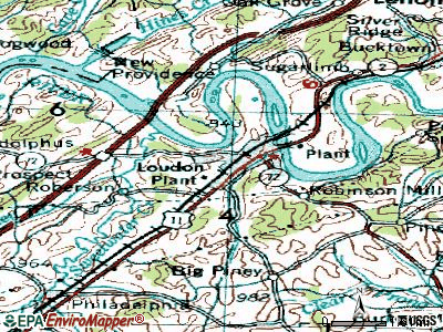 Loudon topographic map