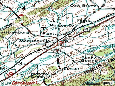 Madisonville topographic map
