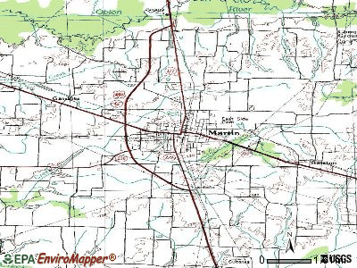 Martin topographic map