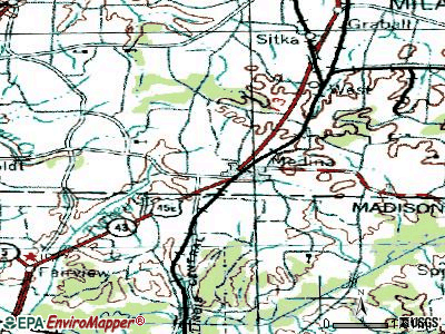 Medina topographic map