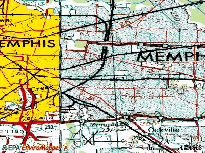 Memphis topographic map