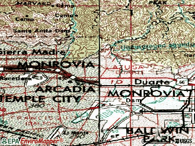 Monrovia topographic map