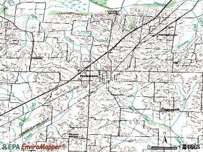 Newbern topographic map