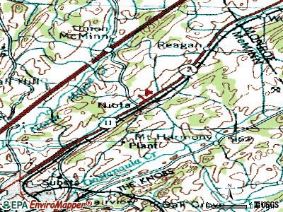 Niota topographic map