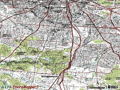 Oak Hill topographic map