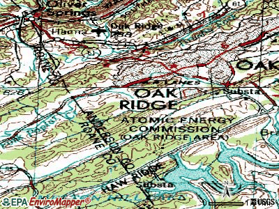 Oak Ridge topographic map