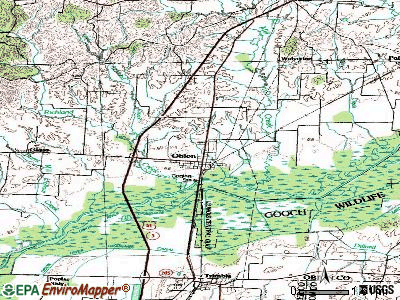 Obion topographic map