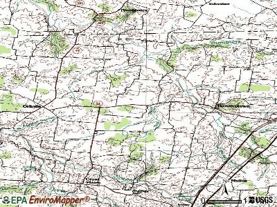 Orlinda topographic map