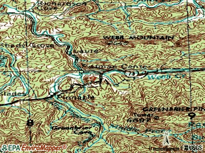 Pittman Center topographic map