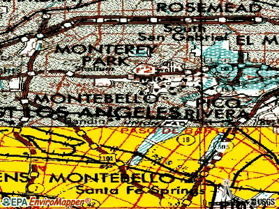 Montebello topographic map