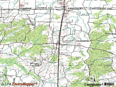 Puryear topographic map