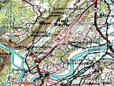 Red Bank topographic map
