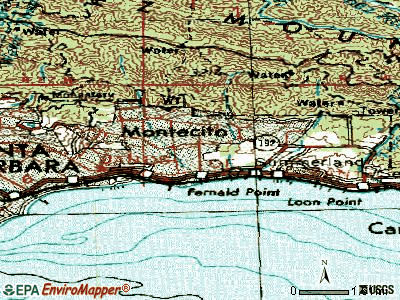 Montecito topographic map