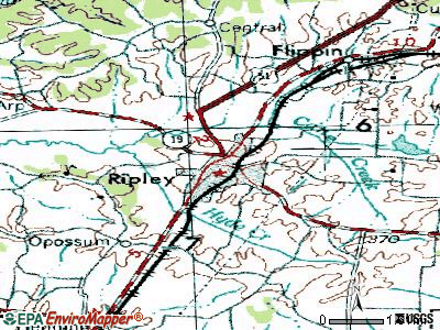 Ripley topographic map