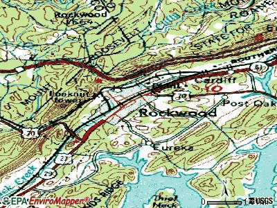 Rogersville topographic map