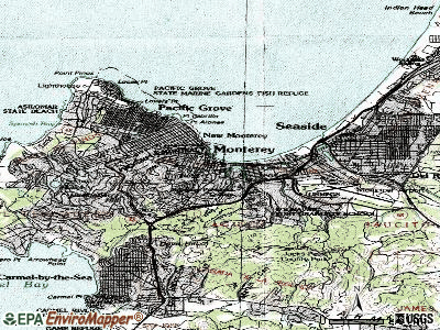 Monterey topographic map