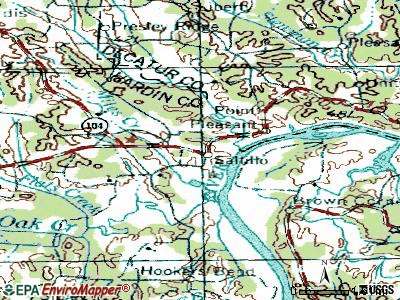 Saltillo topographic map