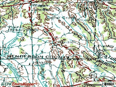 Sardis topographic map