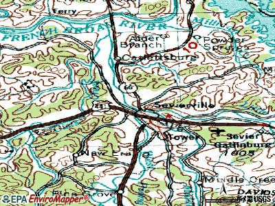 Sevierville topographic map