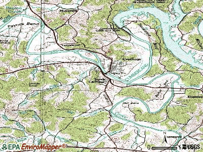 South Carthage topographic map