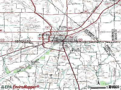 South Fulton topographic map