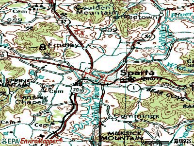 Sparta topographic map