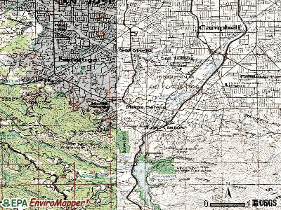 Monte Sereno topographic map