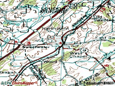 Sweetwater topographic map