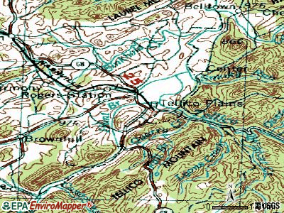 Tellico Plains topographic map