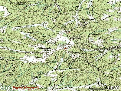 Tennessee Ridge topographic map