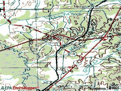 Toone topographic map
