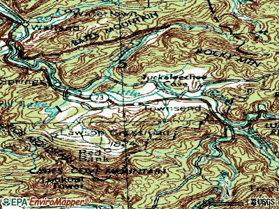Townsend topographic map