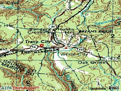 Tracy City topographic map