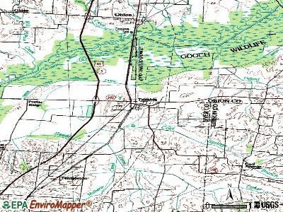 Trimble topographic map