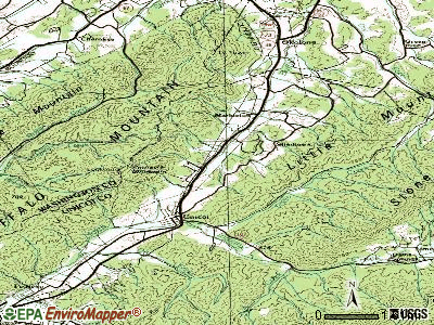 Unicoi topographic map