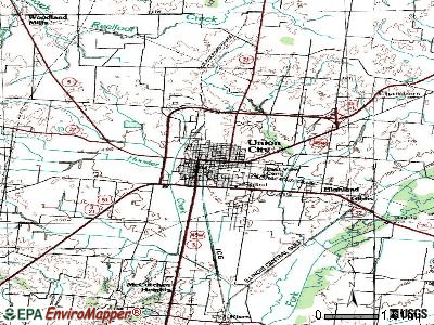 Union City topographic map