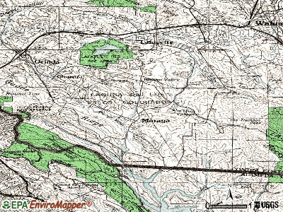 Moraga topographic map