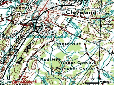 Wildwood Lake topographic map