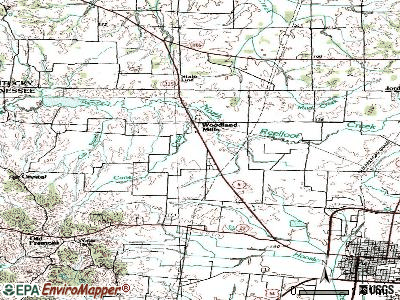 Woodland Mills topographic map