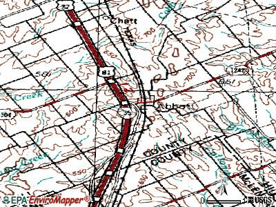 Abbott topographic map