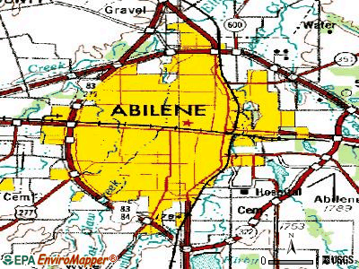 Abilene topographic map