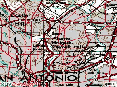 Alamo Heights topographic map