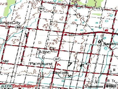 Alton North topographic map
