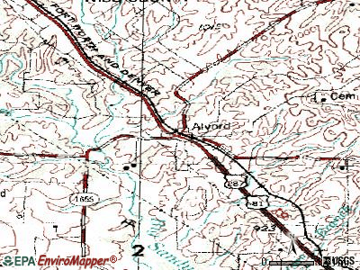 Alvord topographic map