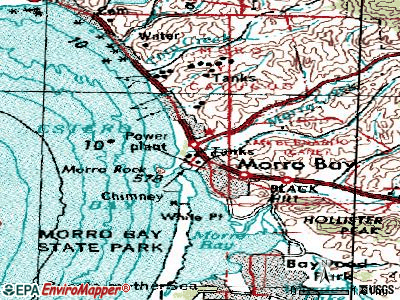Morro Bay topographic map
