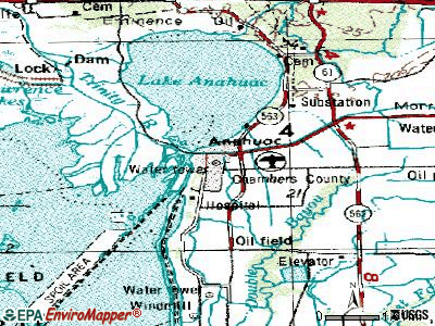 Anahuac topographic map